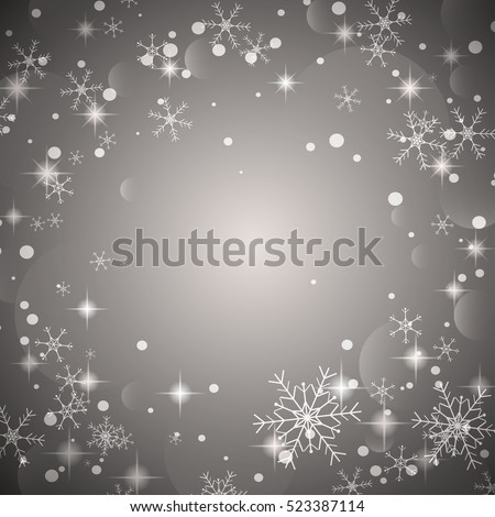 Merry Christmas with snowflake background