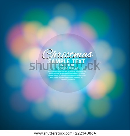 Merry Christmas Year Card - Editable EPS10 - stock vector
