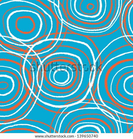 merry colored circles seamless vector pattern - stock vector