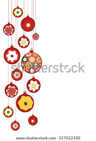 Merry Cristmas and Happy New Year background - stock vector