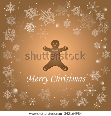Merry cristmas from ginger man - stock vector
