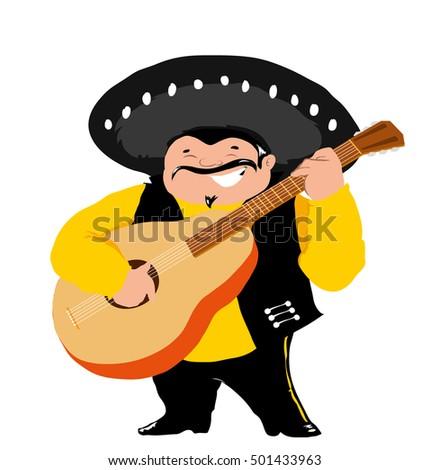 Merry El Mariachi Guitar Stock Vector 501433963 - Shutterstock