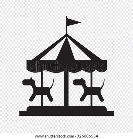 merry go round icon - stock vector