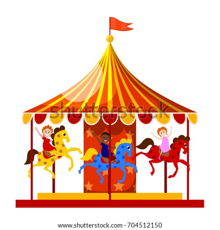how to draw a merry go round