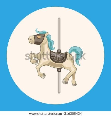 merry-go-round theme elements - stock vector