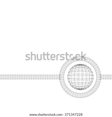 Mesh polygonal background. Scope of lines and dots. Ball of the lines connected to points. Molecular lattice. The structural grid of polygons. Polygonal design style letterhead and brochure - stock vector
