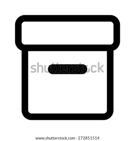 Message archive line art icon for apps and websites - stock vector