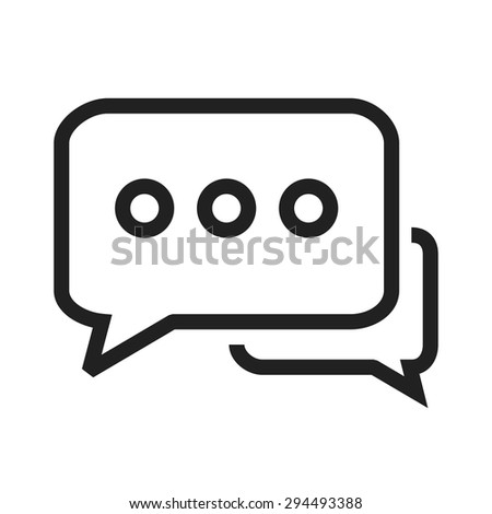 Message, attention,tweet icon vector image.Can also be used for admin dashboard. Suitable for mobile apps, web apps and print media. - stock vector
