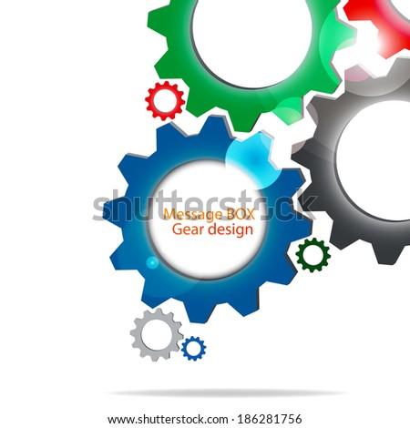 Message BOX Gear Template Design Stock Vector (2018) 186281756 ...