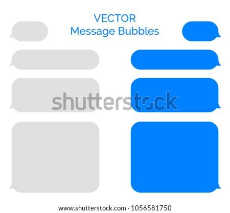 Blank Text Message Bubble Message Bubbles Vector...