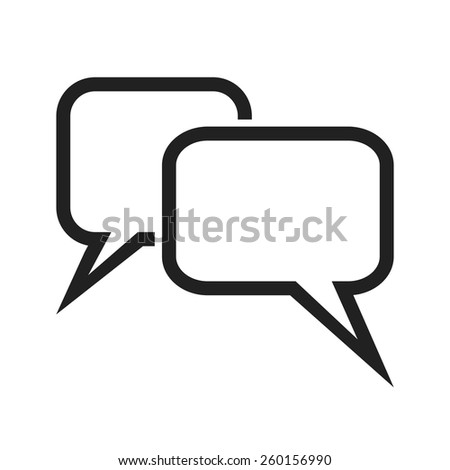 Message Bubbles vector image to be used in web applications, mobile applications and print media.