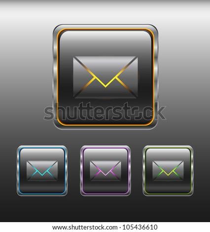 message button - stock vector