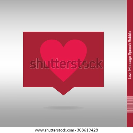 Message Icon with heart Symbol. - stock vector