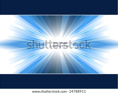 Message in skylight - stock vector