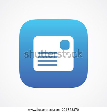 Message Letter Envelope Mail sign pictogram. Vector symbol icon. Simple flat metro design style. ESP10 - stock vector