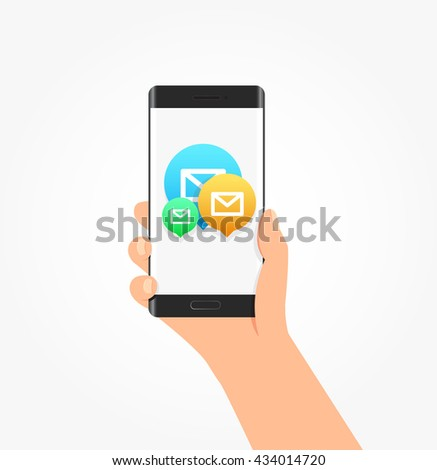 Message & Mail Icon Bubbles Phone Vector Illustration