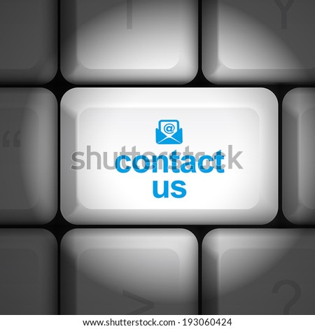 message on keyboard enter key, for contact us concepts - stock vector