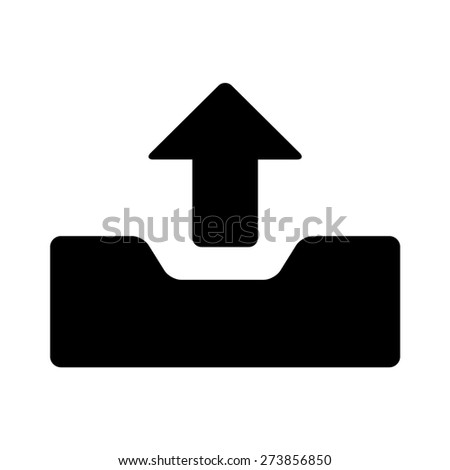 Message outbox flat icon for apps and websites - stock vector