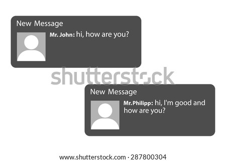 Message Service - stock vector