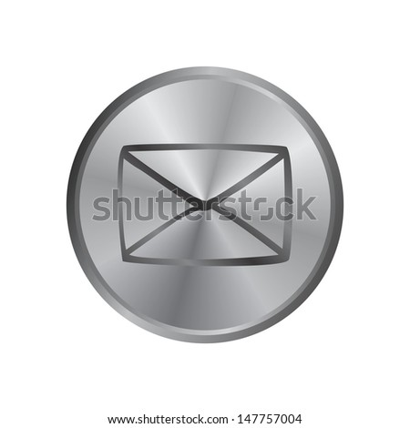 message silver button