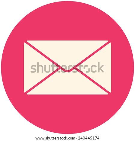 Message, vector icon flat design - stock vector