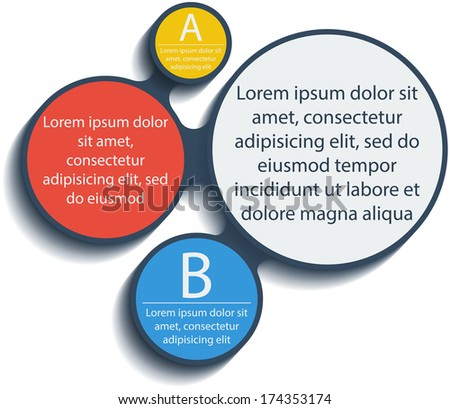 Metaball infographic elements in flat design. Vector. Place for your text here. Template for your design.