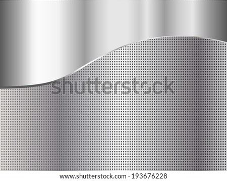 Metal abstract background - vector illustration - stock vector