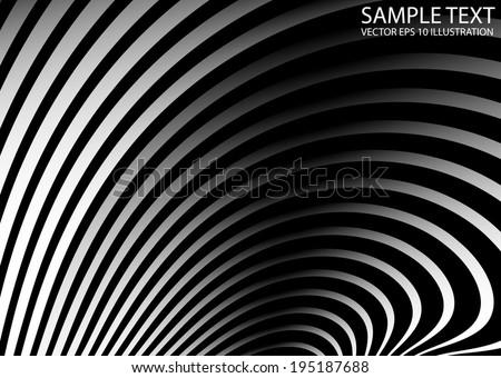 Metal abstract curved background illustration - Vector abstract shiny silver arcs template - stock vector