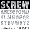metal alphabet with screws - stock photo