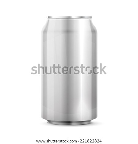 Metal Aluminum Beverage Drink Can - stock vector