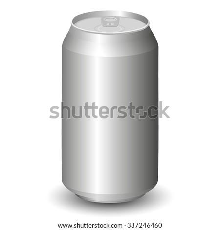Metal Aluminum Beverage Drink Can - stock vector
