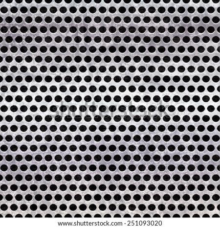 Metal Background Texture . Metal Plate . Abstract Metal Template . Silver Metal Grid . Metal Speaker . Metal Texture . Vector Illustration.  - stock vector