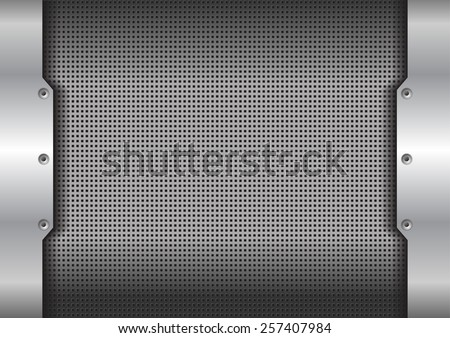 metal background texture - vector illustration - stock vector