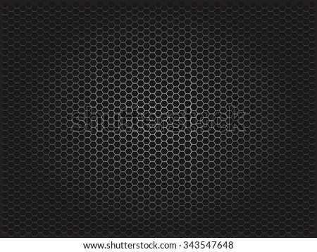 Metal background. Vector geometric pattern of hexagons.