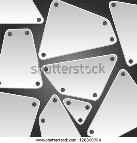 Metal background vector illustration - stock vector