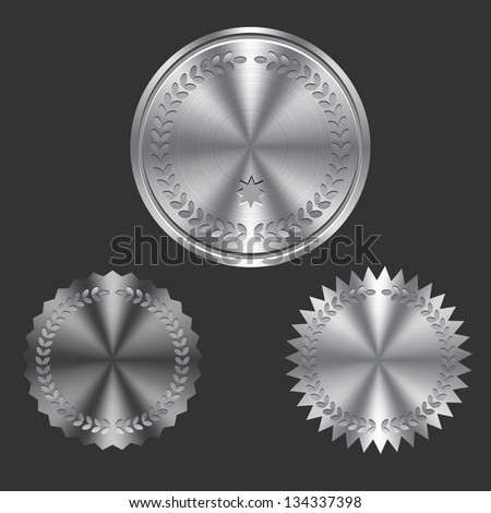 Metal Badges - Emblems - stock vector