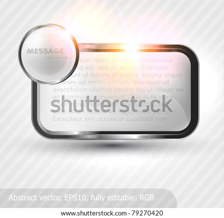 Metal banner background (vector illustration) - stock vector