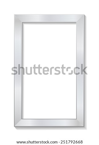 metal brushed picture frame - stock vector