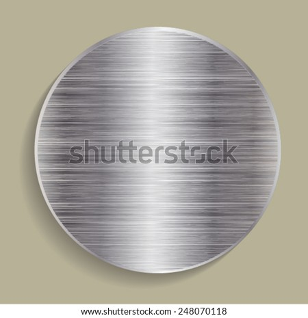 Metal Brushed Texture. Background. Vector Illustration.