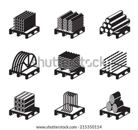 Metal building materials - vector illustration - stock vector