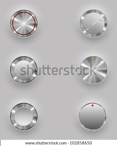 Metal buttons - stock vector