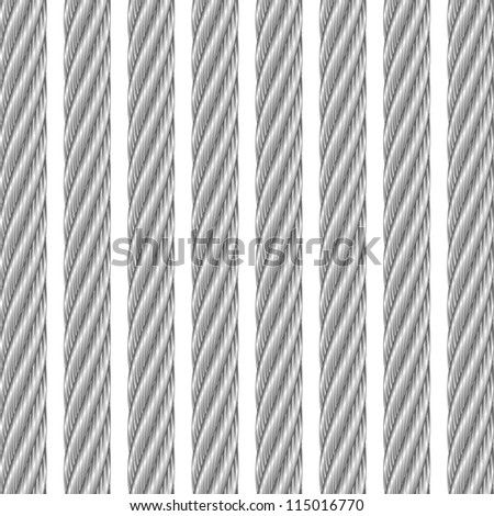 metal cable white - stock vector