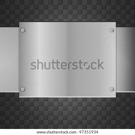 Metal chrome plate with screws