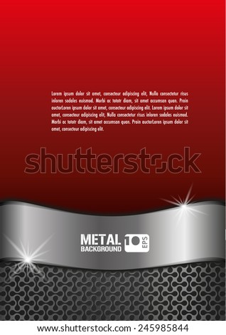 metal chrome vector background - stock vector