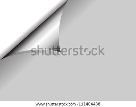 Metal Coil Steel page curl with white background vector - stock vector