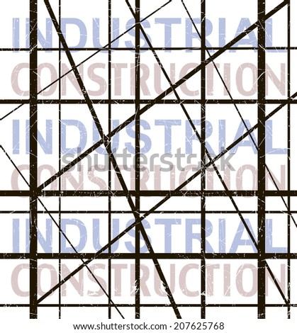 Metal construction lattice on white background. - stock vector