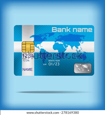 metal credit card or smart card template design