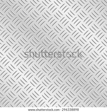 Metal diamond chequer plate. Tileable vector wallpaper background that repeats left, right, up and down - stock vector