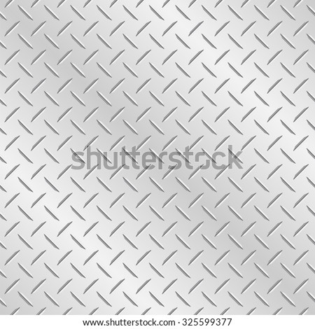 Metal diamond plate. Vector wallpaper background that repeats left, right, up and down