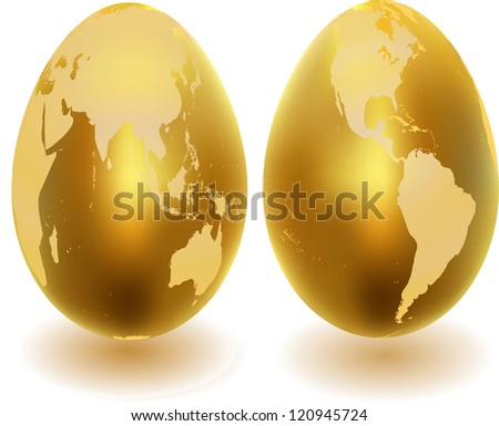 Metal eggs - stock vector